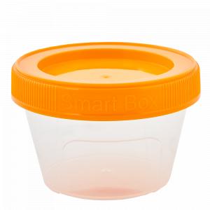 """Контейнер """"Smart Box"""" круглий 0,06л. (_пр./св.оранж.)"""