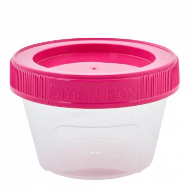 """Контейнер """"Smart Box"""" круглий 0,06л. (_пр./т.рож.)"""