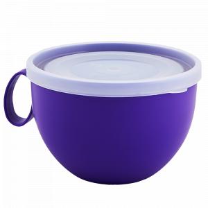 Чашка з кришкою 0,5л. (_т.бузкова/пр.)