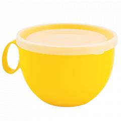Чашка з кришкою 0,5л. (_т.жовта/пр.)