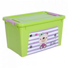 """Контейнер """"Smart Box"""" з декором Pet Shop  3,5л. (_оливк./оливк./рож.)"""