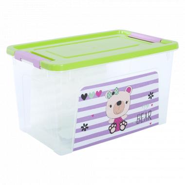 """Контейнер """"Smart Box"""" з декором Pet Shop  3,5л. (_пр./оливк./рож.)"""
