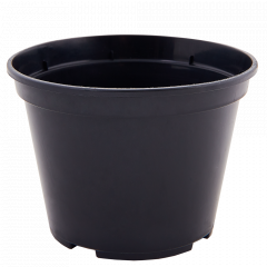 Вазон для розсади круглий 25,0*20,0см. (чорний)