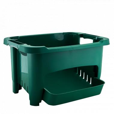 Корзина для зберігання овочів (зелена)
