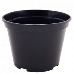 Вазон для розсади круглий 28,0*22,0см. (чорний)