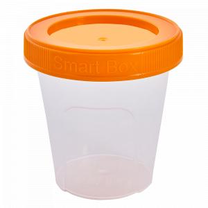 """Контейнер """"Smart Box"""" круглий 0,18л. (_пр./світло-оранж.)"""