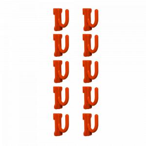 Гачок малий 12*30*30мм. (10шт.) (оранж.)