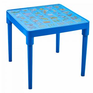 """Стіл дитячий """"Абетка англійська"""" (блакитний)"""
