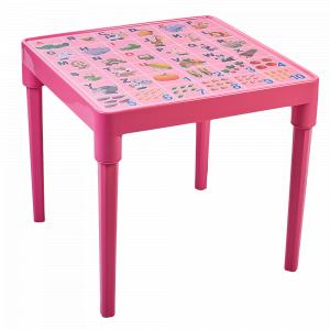 """Стіл дитячий """"Абетка англійська"""" (рожевий)"""