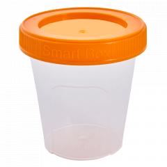 """Контейнер """"Smart Box"""" круглий 0,24л. (_пр./світло-оранж.)"""