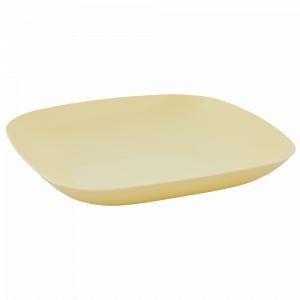 Тарілка 250*250*30мм. (жовта)