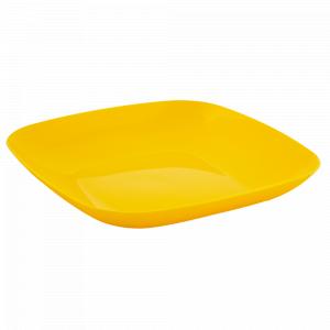 Тарілка 250*250*30мм. (т.жовта)