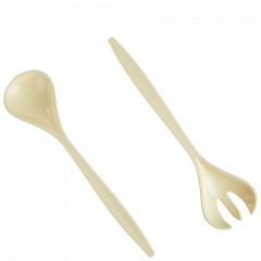 Ложка та виделка для салату (жовта)