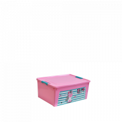 """Контейнер """"Smart Box"""" з декором Pet Shop  7,9л. (_рож./рож./бірюз.)"""