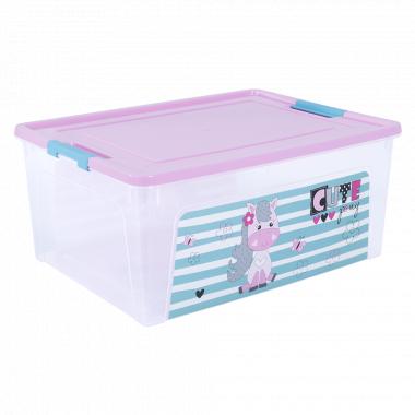 """Контейнер """"Smart Box"""" з декором Pet Shop  7,9л. (_пр./рож./бірюз.)"""
