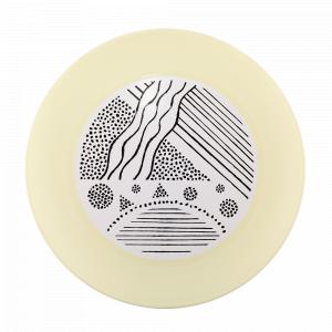 Тарілка з декором d22см. (Lines, жовта)