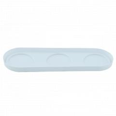 Підставка для 3 вазонів (біла)