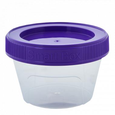 """Контейнер """"Smart Box"""" круглий 0,20л. (_пр./т.бузковий)"""