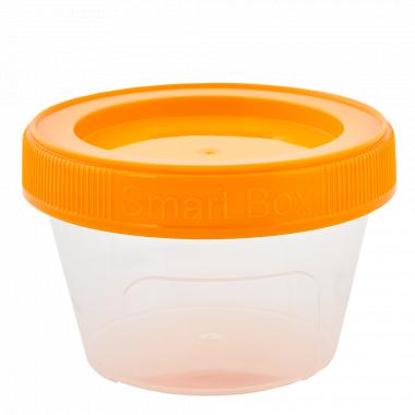 """Контейнер """"Smart Box"""" круглий 0,20л. (_пр./світло-оранж.)"""