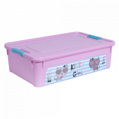 """Контейнер """"Smart Box"""" з декором Pet Shop 14л. (_рож./рож./бірюз.)"""