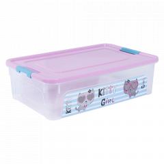 """Контейнер """"Smart Box"""" з декором Pet Shop 14л. (_пр./рож./бірюз.)"""