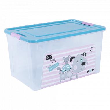 """Контейнер """"Smart Box"""" з декором Pet Shop 27л. (_пр./бірюз./рож.)"""