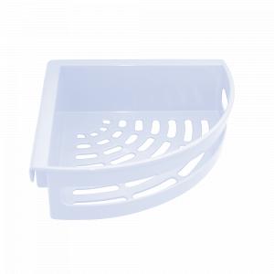 Поличка для ванної кутова (біла)