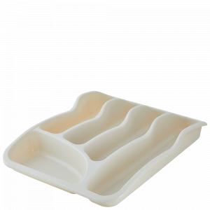 Лоток для столових приладів (біла роза)