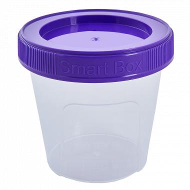 """Контейнер """"Smart Box"""" круглий 0,35л. (_пр./т.бузковий)"""