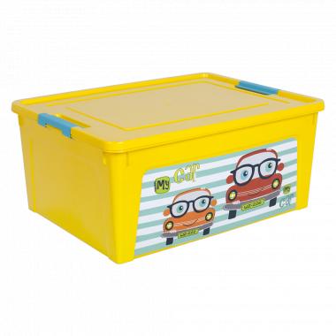 """Контейнер """"Smart Box"""" з декором My Car  7,9л. (_т.жовт./т.жовт./бірюз.)"""