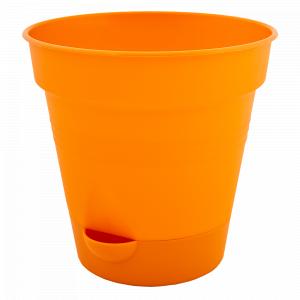 """Вазон """"Глорія"""" з поливом 16см. (оранж.)"""