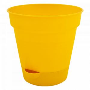"""Вазон """"Глорія"""" з поливом 16см. (т.жовтий)"""