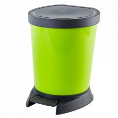 Відро для сміття з педаллю 10л. (оливк.)