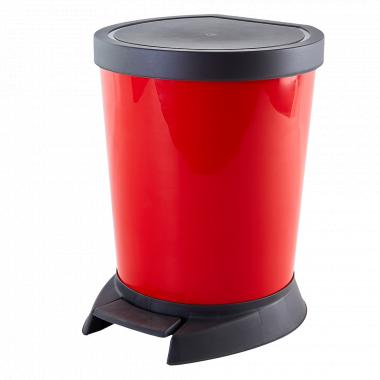 Відро для сміття з педаллю 10л. (червоне)