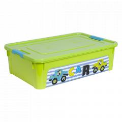 """Контейнер """"Smart Box"""" з декором My Car 14л. (_оливк./оливк./бірюз.)"""