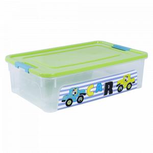 """Контейнер """"Smart Box"""" з декором My Car 14л. (_пр./оливк./бірюз.)"""