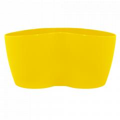 """Вазон """"Кактусник"""" на 2 рослини (т.жовтий)"""