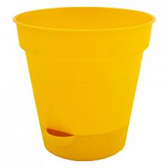 """Вазон """"Глорія"""" з поливом 20см. (т.жовтий)"""