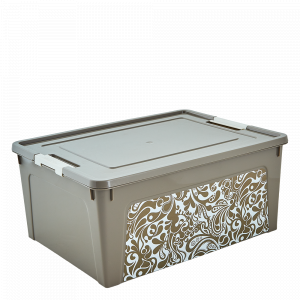 "Контейнер ""Smart Box"" з декором Home  7,9л. (_какао/б.роза)"