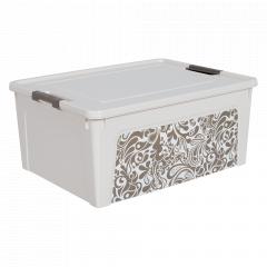 "Контейнер ""Smart Box"" з декором Home  7,9л. (_б.роза/какао)"