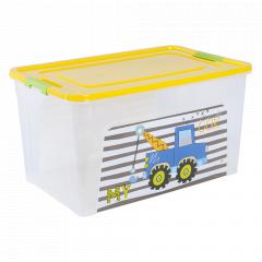 """Контейнер """"Smart Box"""" з декором My Car 27л. (_пр./т.жовт./оливк.)"""