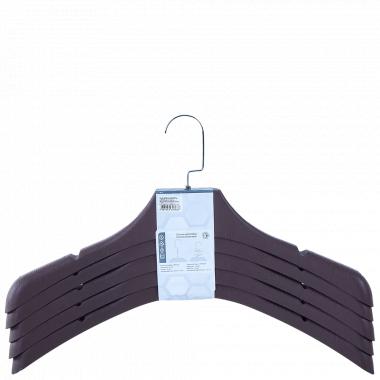 Вішалка для верхнього одягу 45*8см. (набір 5 шт.) (т.корич.)