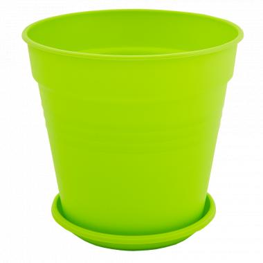 """Вазон """"Глорія"""" з підст. 18,5*18см. (світло-зелений)"""