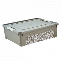 "Контейнер ""Smart Box"" з декором Home 14л. (_какао/б.роза)"