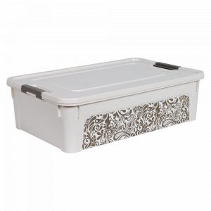 "Контейнер ""Smart Box"" з декором Home 14л. (_б.роза/какао)"
