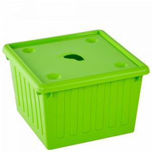 Ємність для зберігання речей з кришкою 25л. (оливк.)