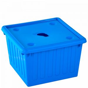 Ємність для зберігання речей з кришкою 25л. (блакитна)