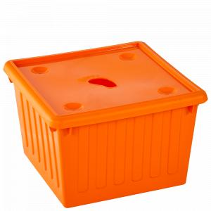 Ємність для зберігання речей з кришкою 25л. (світло-оранж.)