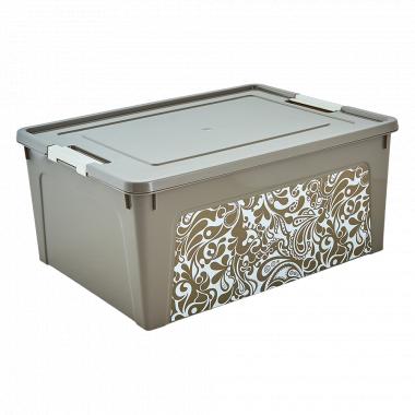 "Контейнер ""Smart Box"" з декором Home 27л. (_какао/б.роза)"