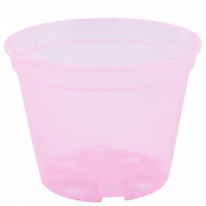 Drainage flowerpot  9,0x 6,5cm. (pink transparent)